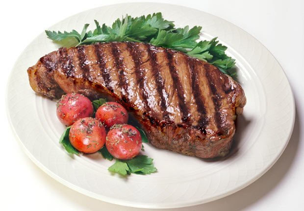 Cooked Steak on a plate