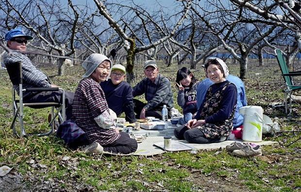 Japoneses sentados en un picnic - Secretos para la longevidad