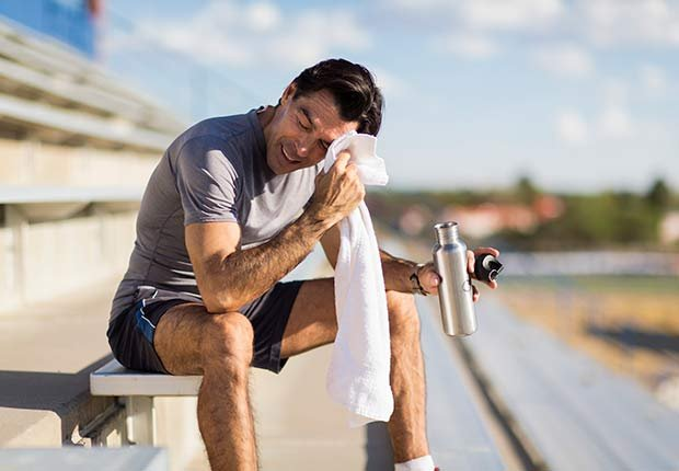 Fitness Flash High Intensity Training Health Benefits Healthier Heart Man Bleachers Stadium ESP