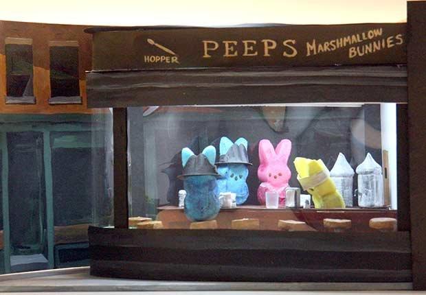 Escaparate de una tienda de Peeps - Curiosidades de los dulces Peeps - Dulces de Pascua