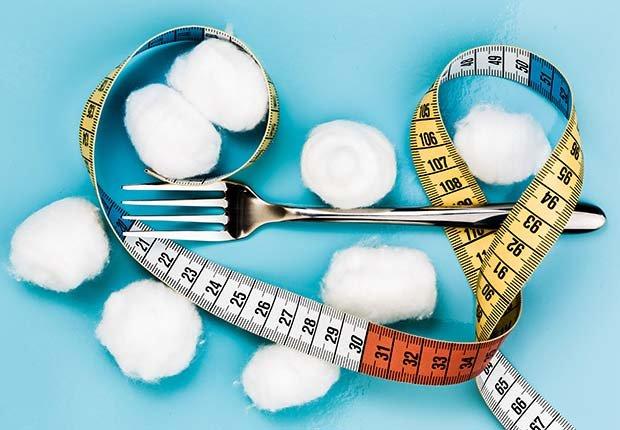 Comer algodón - Dietas para adelgazar poco saludables