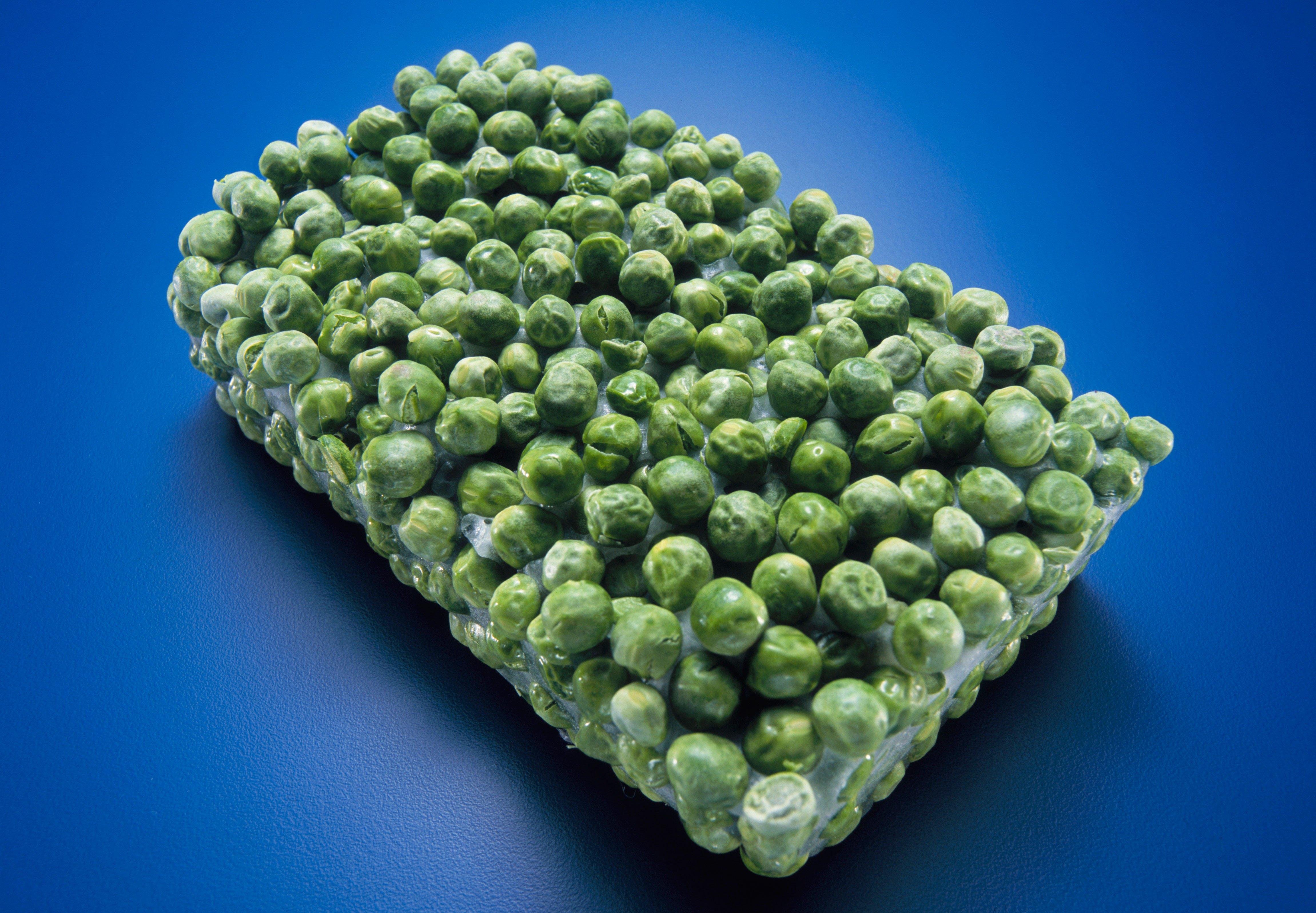 Guisantes verdes congelados