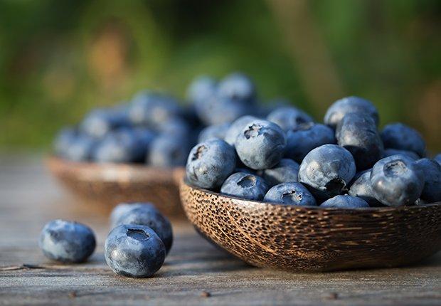 Moras azules - Alimentos que alivian