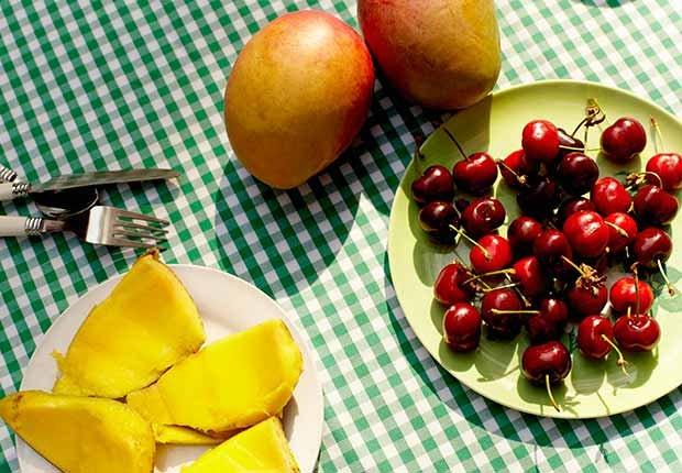 Jugos naturales: combinaciones de frutas y vegetales - Cereza y mango