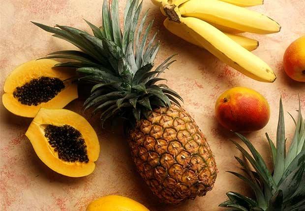 Jugos naturales: combinaciones de frutas y vegetales - Papaya y piña
