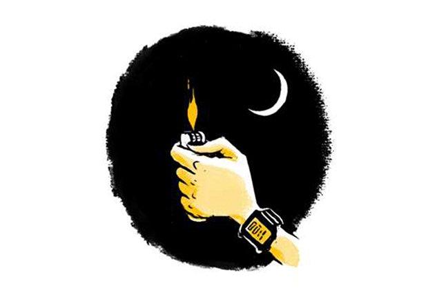 Gráfico de una mano con un encendedor