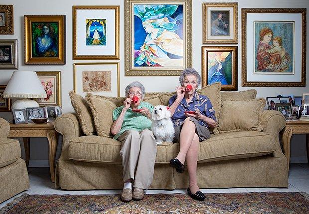 Serafina Rodriguez, 100, (izquierda) y su cuñada, Iraida Rodriguez, 95 (derecha).