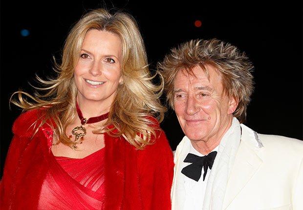 Matrimonios de famosos con una gran diferencia de edad - Penny Lancaster y Rod Stewart