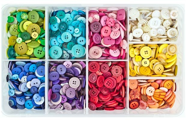 Caja para los botones, 10 objetos útiles y asequibles para su hogar