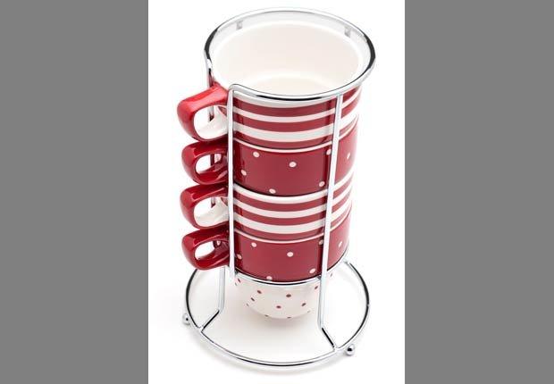 Estante de aluminio para organizar sus tazas de café - Organice su cocina