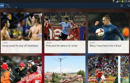Captura de pantalla de la aplicación de la FIFA en Google Play. Aplicaciones para los fanáticos del fútbol