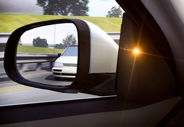Última tecnología para automóviles: Monitor para el punto ciego