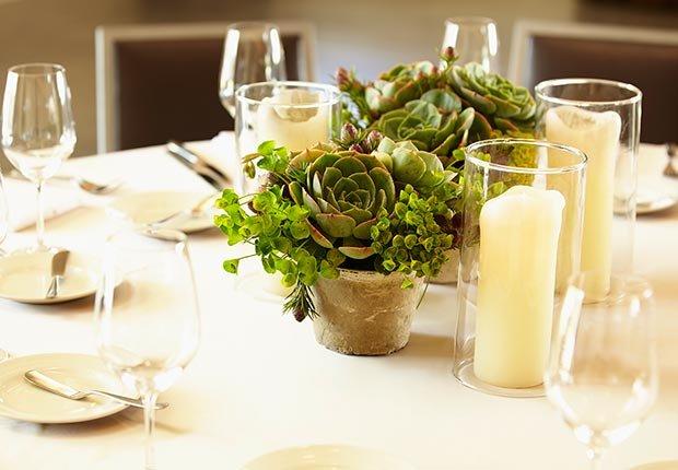 Decoración que hará cualquier boda inolvidable - Velas en envase de vidrio
