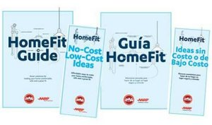 HomeFit Guide and Pamphlet covers in English and Spanish