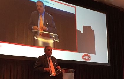 Ray LaHood speaking at the 2016 AARP Livable Communities National Conference