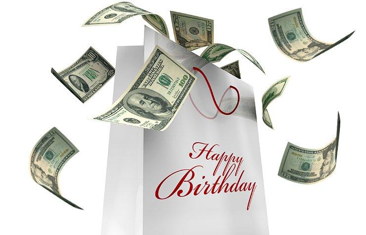 Grafico de dinero - Sácale provecho a tu cumpleaños y a tu edad