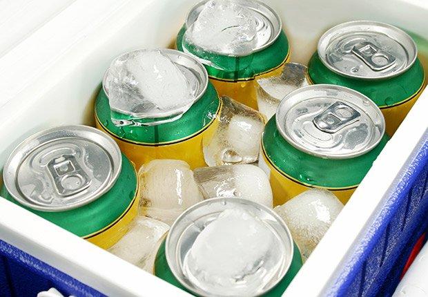 Neverita con refrigerios