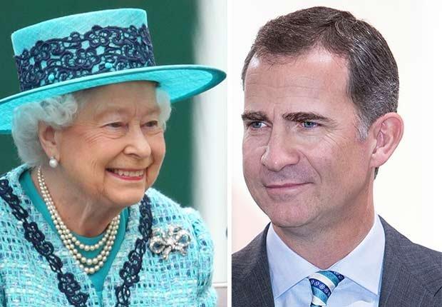 Reina Isabel II de Inglaterra y rey Felipe IV de España  - Salarios de los famosos