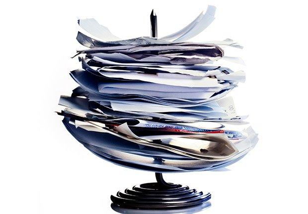 Facturas y recibos recolectados en una base - Deducción de impuestos, gastos búsqueda de trabajo