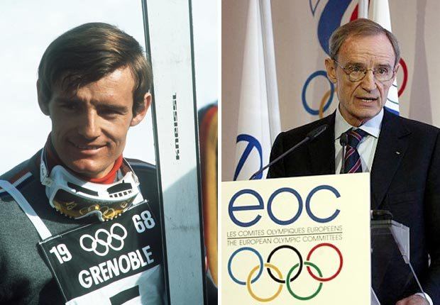French Olympic skier Jean-Claude Killy won three gold medals in 1968 and has served on the EOC. For the Then and Now Olympians slideshow.