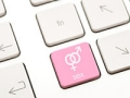 Close up of a computer keyboard with dating icon, Frustrations with online dating