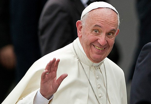 Papa Francisco a su llegada a la Havana, Cuba