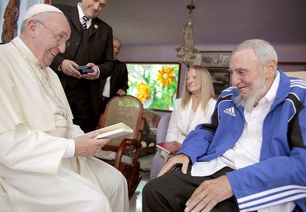 Papa Francisco se reúne con Fidel Castro en Cuba