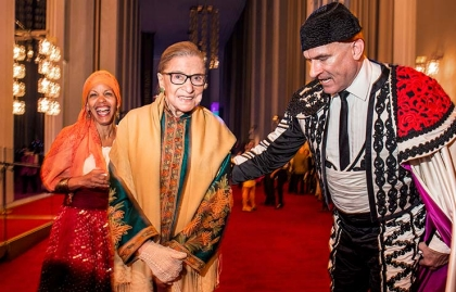 Supreme Court justice Ruth Bader Ginsburg at the opera at the Kennedy Center in Washington DC