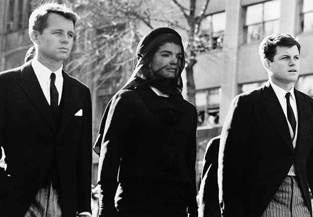 Robert Kennedy, Jacqueline Kennedy y Edward Kennedy