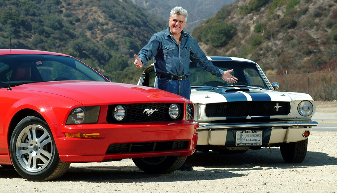Jay Leno, 2005 Shelby Mustang GT, 1965 Shelby Coupe, Ford Mustang: A Great 50-Year Trajectory