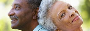 Portrait Of Romantic Senior African American Couple, Financial security AARP Voter Guide