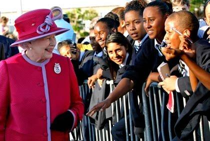 La Reina Isabel en las Islas Bermudas
