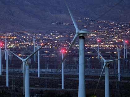 giant wind turbines