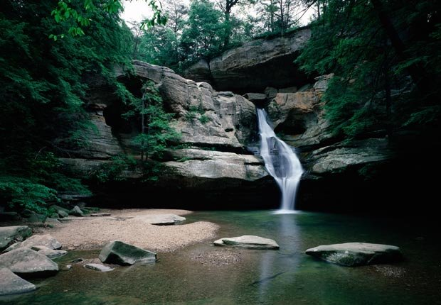 Cedar Falls in the Hocking State Forest in Ohio