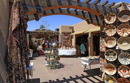 Ir de compras en el centro de Santa Fe, Nuevo México