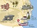 Cataluña, más cautivante a pie - Mapa de atracciones en Cataluña