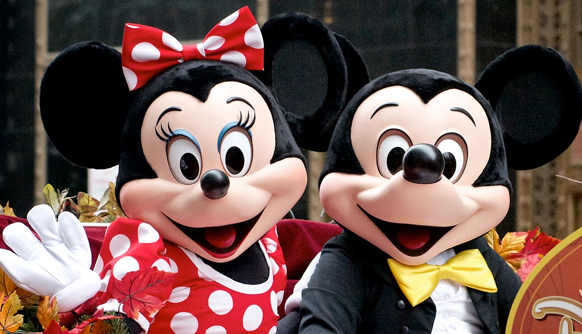 Minney and Mickey Mouse, Take Grandkids to Disney
