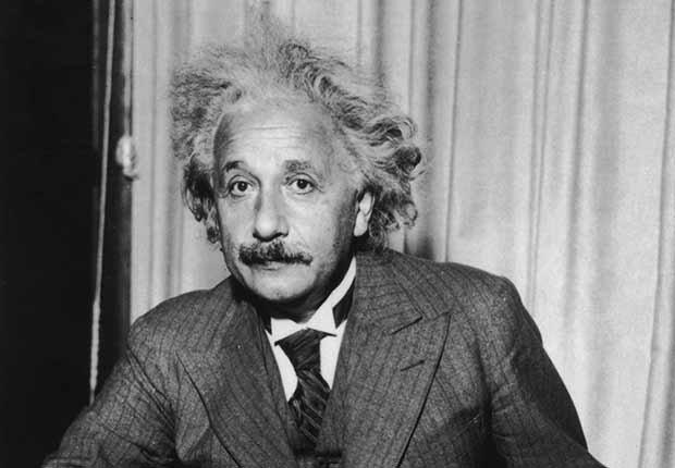 Retrato del físico Albert Einstein, trabajos con poco estrés, pero bien pagados