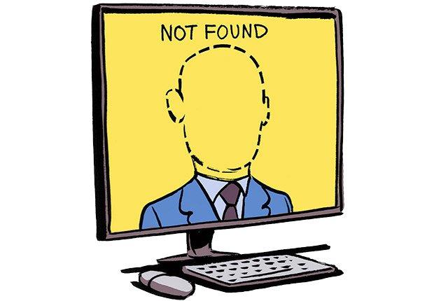 Ilustración de una pantalla de computador  - Errores al buscar trabajo
