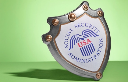 Placa con el logo del Seguro Social de Estados Unidos - Sácale provecho a tu jubilación