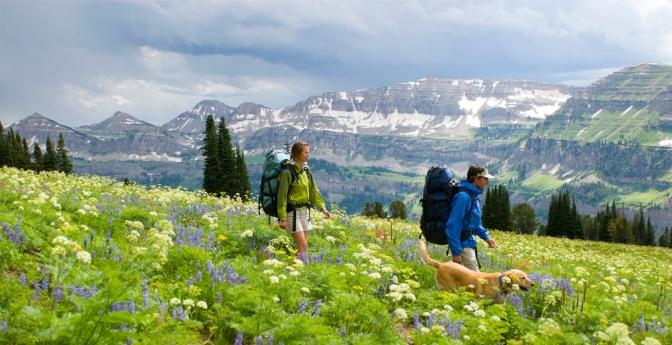 Hikers in Wyoming