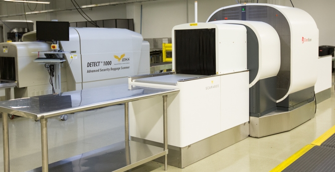 Computed tomography (CT) checkpoint scanning equipment aims to enhance threat detection capability by providing a three-dimensional image that can be viewed and rotated for a more thorough analysis.