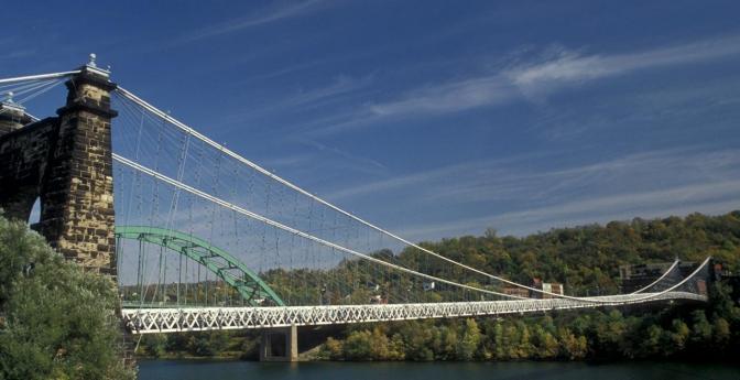 Wheeling Suspension Bridge, West Virginia