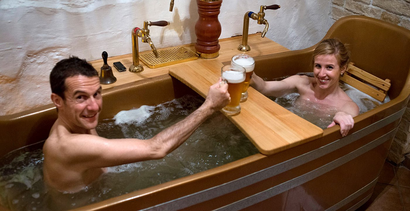 Tap Into the Beer Spa Trend